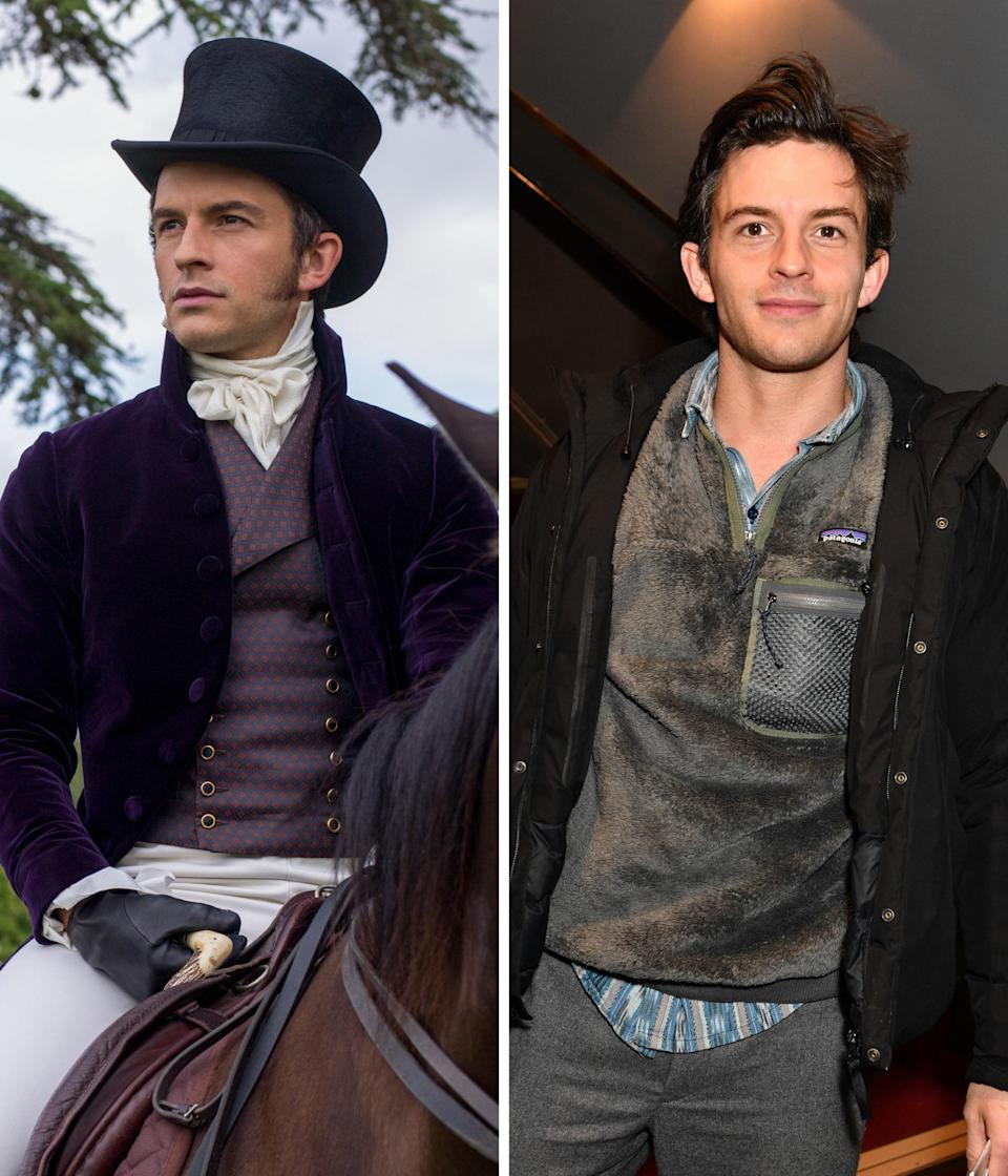 """When we asked Jonathan Bailey if he was ready for his life to change thanks to <em>Bridgerton</em>, the actor told <em>Glamour,</em> """"What's brilliant is I've got half my face is covered in hair. I just get everything sort of blowdried forward. It adds about another seven feet just in hair. So I think with that alone, I've sort of protected myself from being recognized ever again."""""""