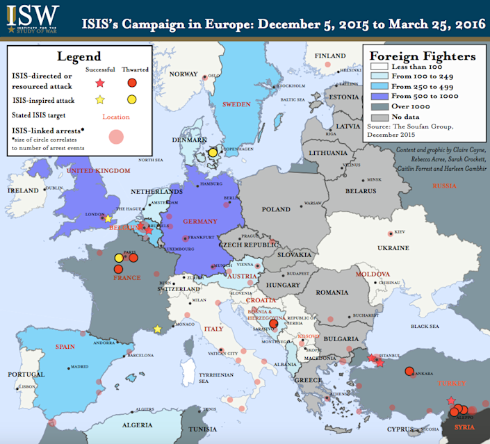 ISIS foreign fighters ISW 3/27/16