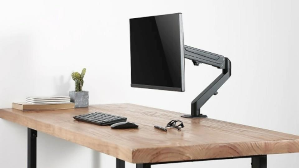 Uplite Single Monitor Gas Spring Desk Mount Stand - Staples Canada, $60.