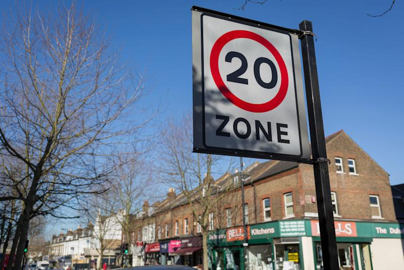 Sped limits in the UK are in miles as opposed to kilometres. Source: Getty