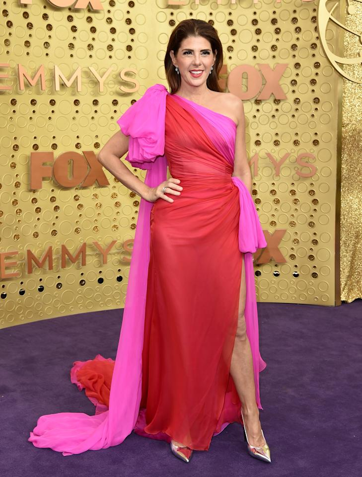 <p>Wearing Ralph &amp; Russo Couture.</p>