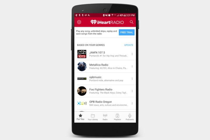 best radio apps ios android iheartradio