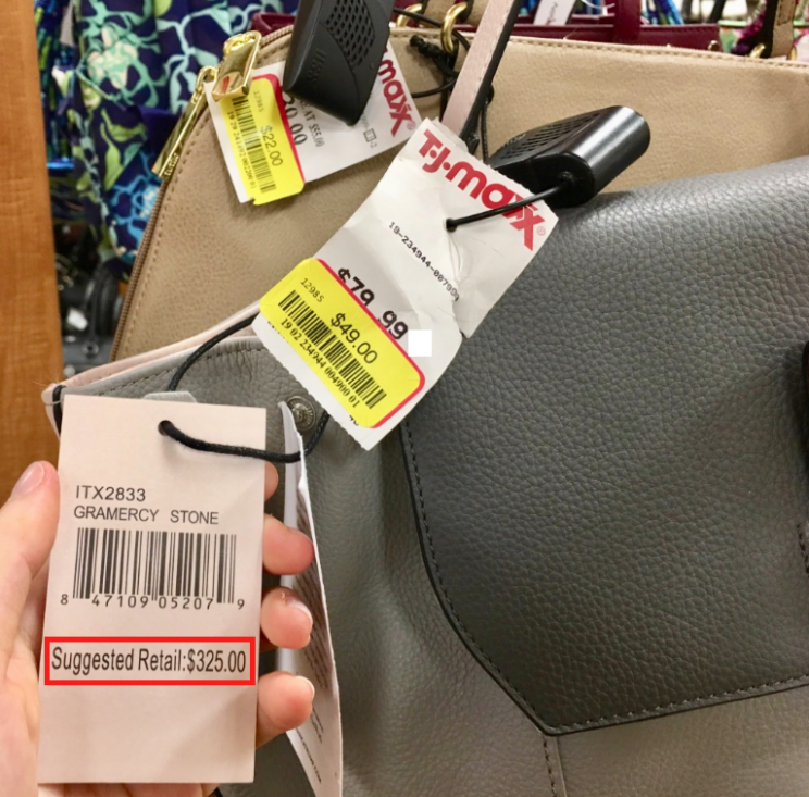 An Ivanka Trump handbag that was marked down 85% off in the clearance section of T.J. Maxx in Chelsea, NYC (Melody Hahm)