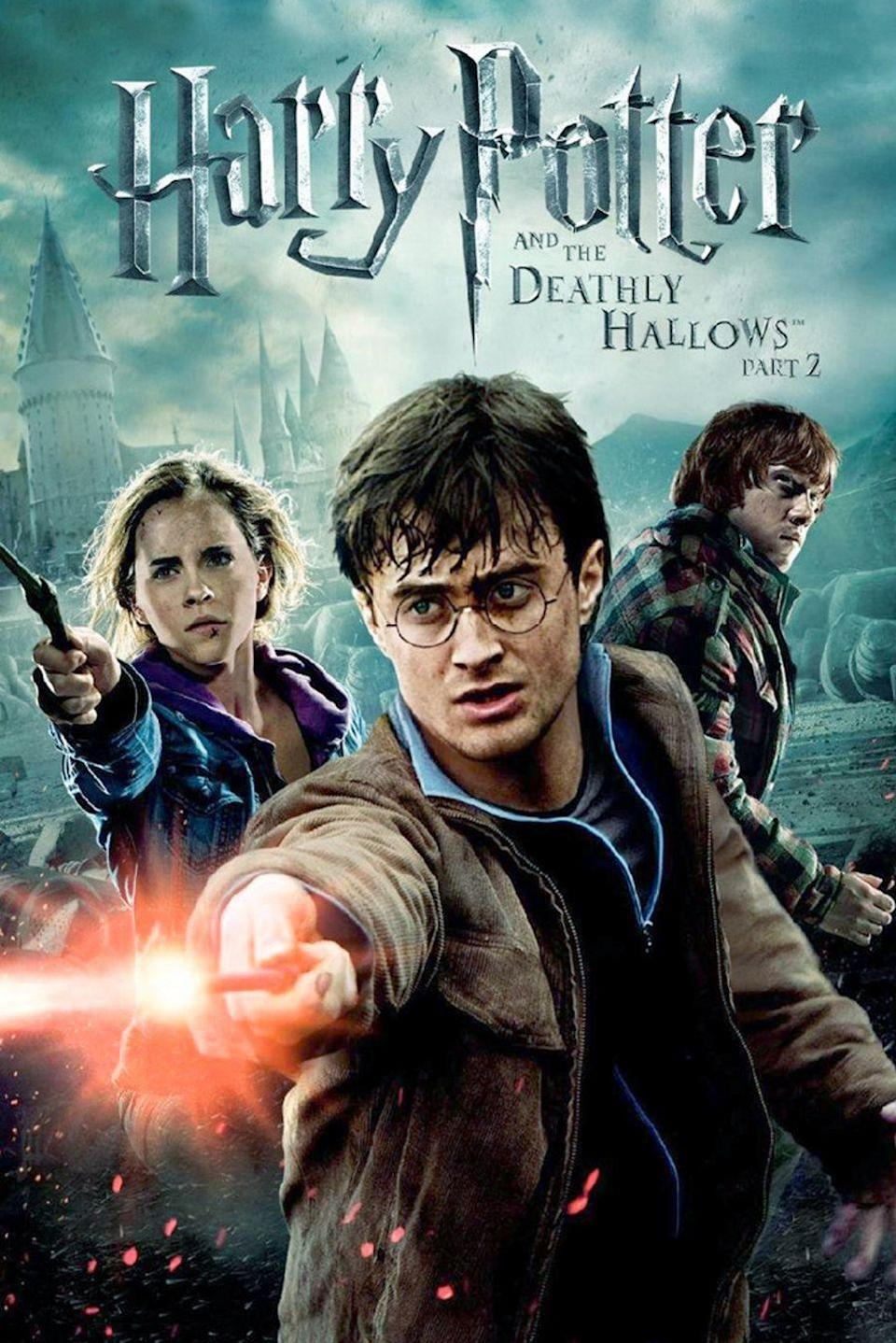 "<p>In the final installment, it is the epic battle between good and evil. The Wizarding World is in an all-out war taking place at Hogwarts. It is up to Harry to defeat Voldemort and save the world.</p><p><a class=""link rapid-noclick-resp"" href=""https://www.amazon.com/gp/video/detail/B00BR6NPRG/ref=atv_dp_b00_det_c_UTPsmN_1_1?tag=syn-yahoo-20&ascsubtag=%5Bartid%7C10055.g.33625559%5Bsrc%7Cyahoo-us"" rel=""nofollow noopener"" target=""_blank"" data-ylk=""slk:WATCH NOW"">WATCH NOW</a></p>"