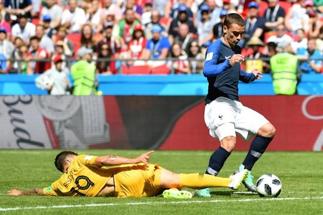 On the spot: Antoine Griezmann converted a penalty for France