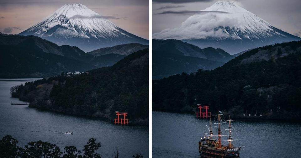 "<p>Social media users praised Twitter user @_deepskyyy for capturing a ""painting-like"" essence to Mount Fuji. (Photos courtesy of @_deepskyyy/Twitter)</p>"