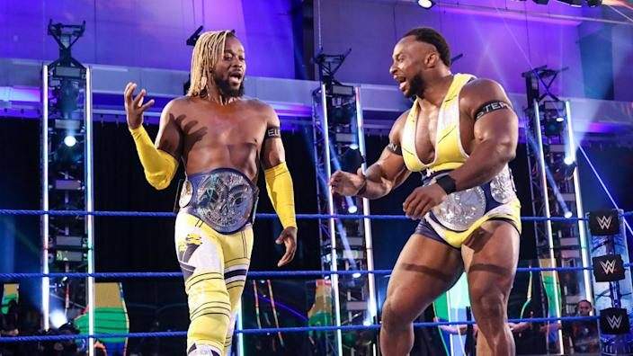 Kofi Kingston and Big E have been working together alongside Xavier Woods for the past six years. Now, Big E will get a chance to prove himself as a solo act. (Photo courtesy of WWE)