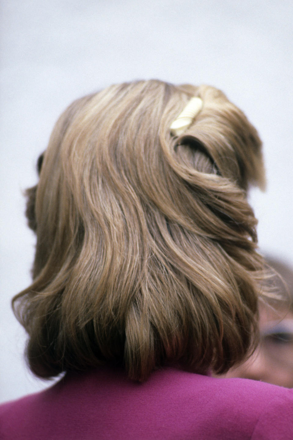 <p>Princess Diana began to experiment with hair accessories in the early eighties, often turning to sleek hair slides to give a more coiffed look.<br><em>[Photo: PA]</em> </p>