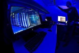 A member of the Cybercrime Center at Europol headquarters in The Hague: Credit AP