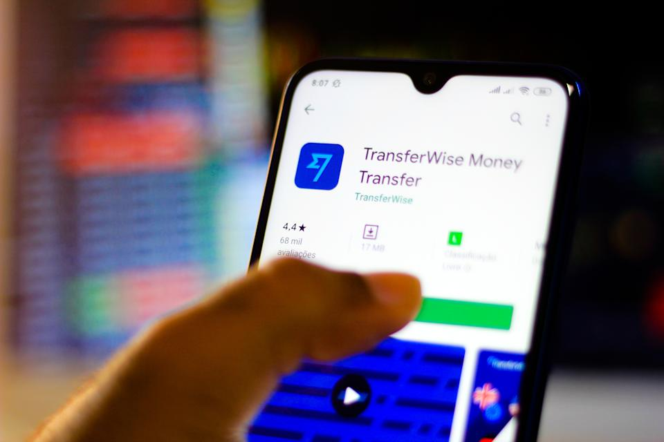 The TransferWise app (renamed as Wise now). Photo: Rafael Henrique/SOPA /LightRocket via Getty Images