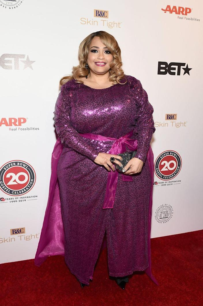 Melanie Few-Harrison attends the 2019 Super Bowl Gospel Celebration at Atlanta Symphony Hall on January 31, 2019 in Atlanta, Georgia. (Photo by Marcus Ingram/Getty Images for BET)