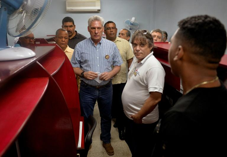 Cuban President Miguel Diaz Canel has cracked down on dissidents (AFP Photo/YAMIL LAGE)