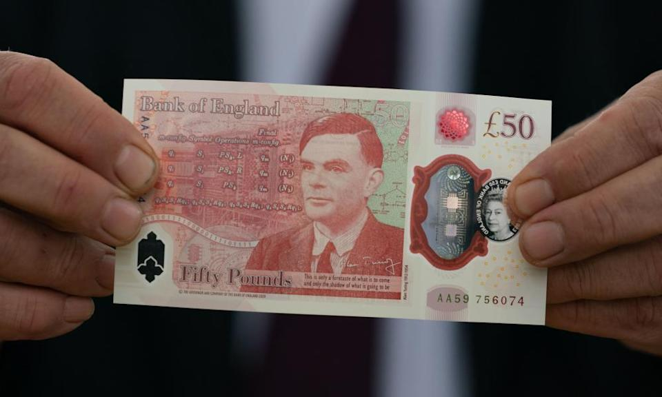 The new Alan Turing £50 note