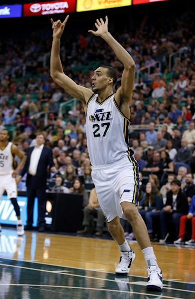 Rudy Gobert's tip-in game winner in overtime was originally ruled no good, but after a video review the basket counted and the Jazz defeated the host Sacramento Kings 110-109, at Golden 1 Center in Sacramento, California, on March 5, 2017