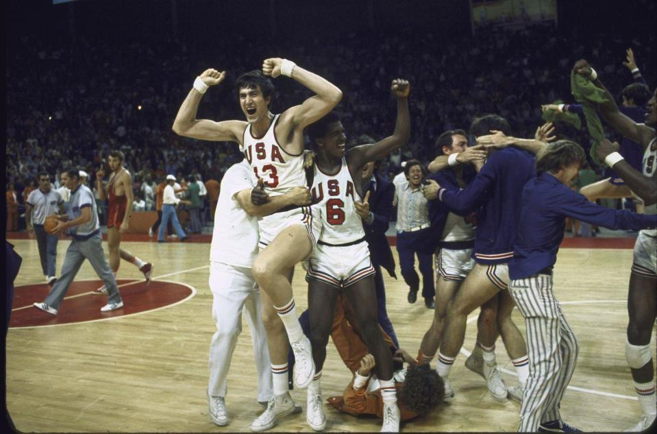 <p>The final basketball game between the United States and the Soviet Union came down to a matter of mere seconds in 1972. The American team prematurely celebrated their victory as seconds were added back to the clock and the Soviets secured a victory. In protest, the American athletes refused to take the podium with the Soviets to receive their silver medals. </p>