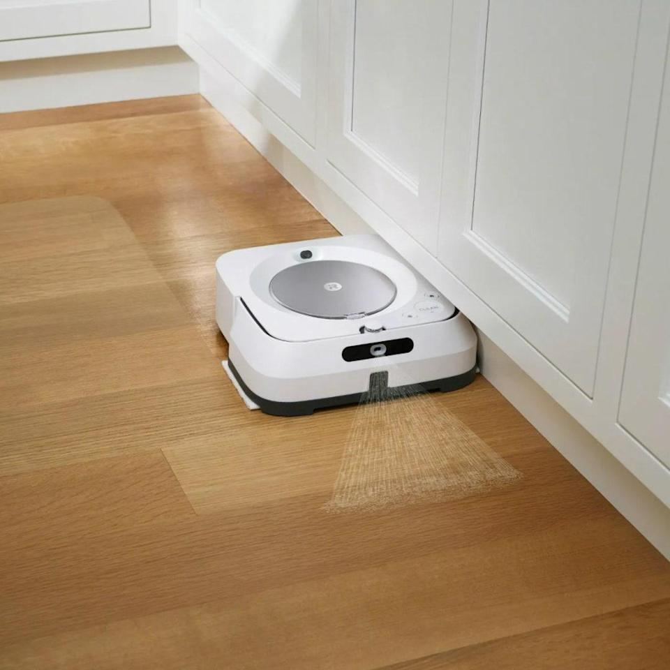 "Less time spent mopping means more time for literally anything. And this little robot gets the job done: Even high-traffic floors are spotless in its wake. We haven't seen this level of robotic elbow grease since Rosie and <em>The Jetsons</em>. $450, Target. <a href=""https://www.target.com/p/irobot-braava-jet-m6-6110-wi-fi-connected-robot-mop/-/A-76551042"" rel=""nofollow noopener"" target=""_blank"" data-ylk=""slk:Get it now!"" class=""link rapid-noclick-resp"">Get it now!</a>"