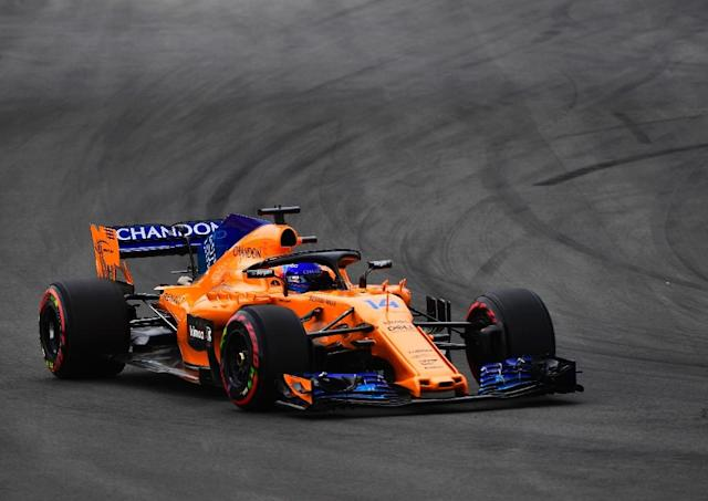 Fernando Alonso produced his best qualifying of the season to sit eighth on the grid for Sunday's Spanish Grand Prix (AFP Photo/PIERRE-PHILIPPE MARCOU)
