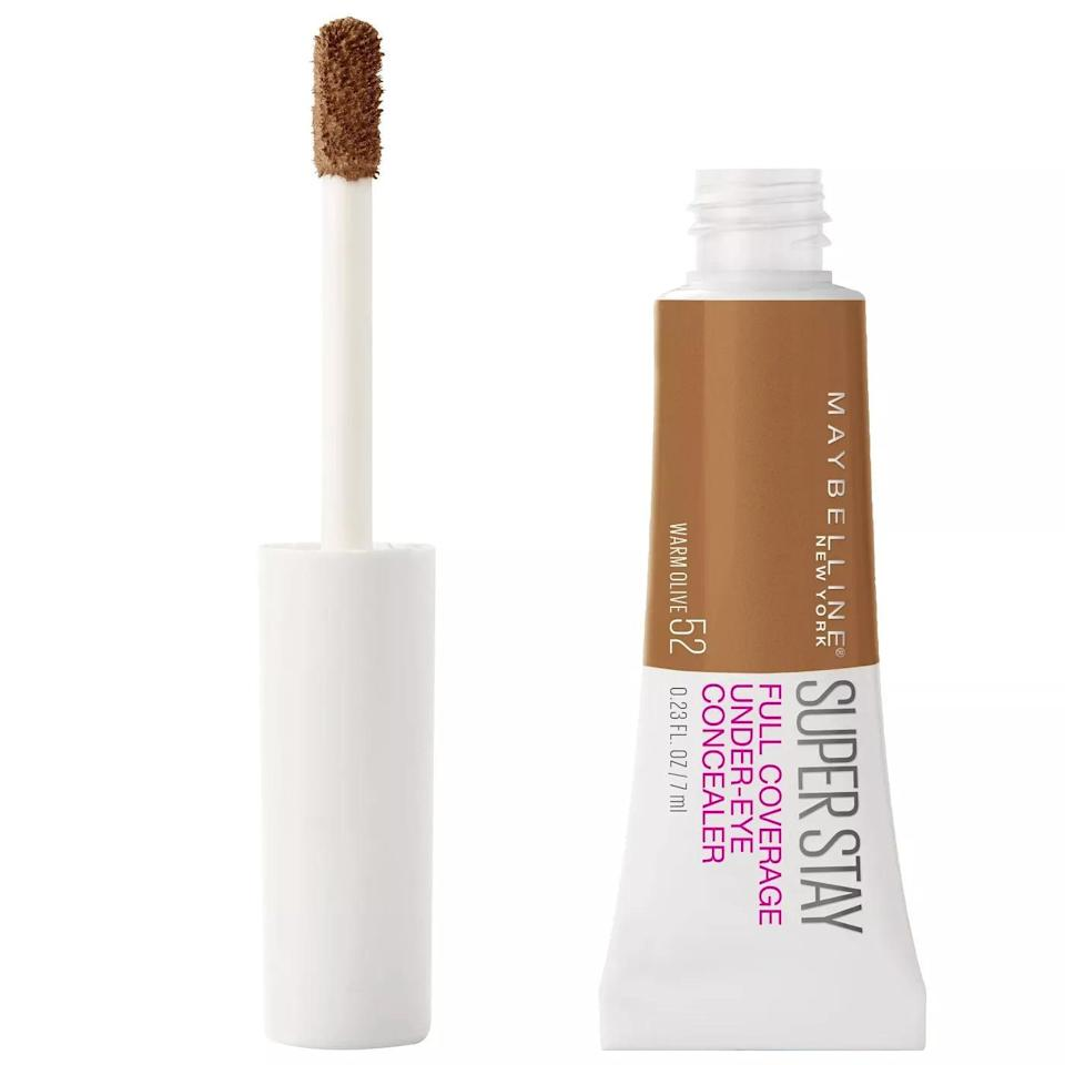 <p>The <span>Maybelline Super Stay Full Coverage Under-Eye Concealer</span> ($10) is waterproof, transfer and smudge resistant, and is long lasting. What more could you ask for!? Although it's made for the under eye area, you can use it where ever you need an extra boost of coverage.</p>