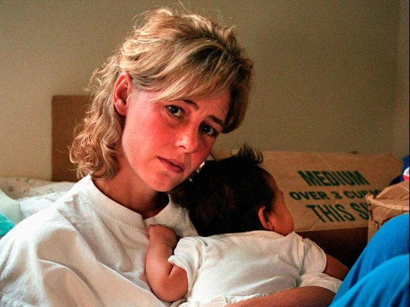 Mary Kay Letourneau with the child of the man she raped in 1996: AP