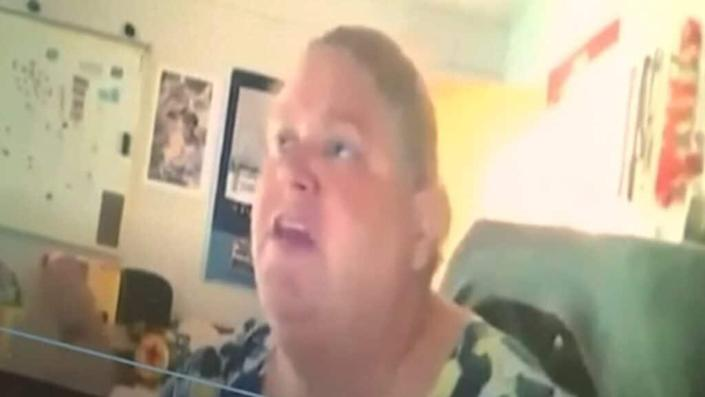 """Poinciana High School social studies teacher Tracey Brown was recorded on Microsoft Teams telling her students<br>she has """"as much right as anyone else to dislike Blacks for what happened to me."""""""