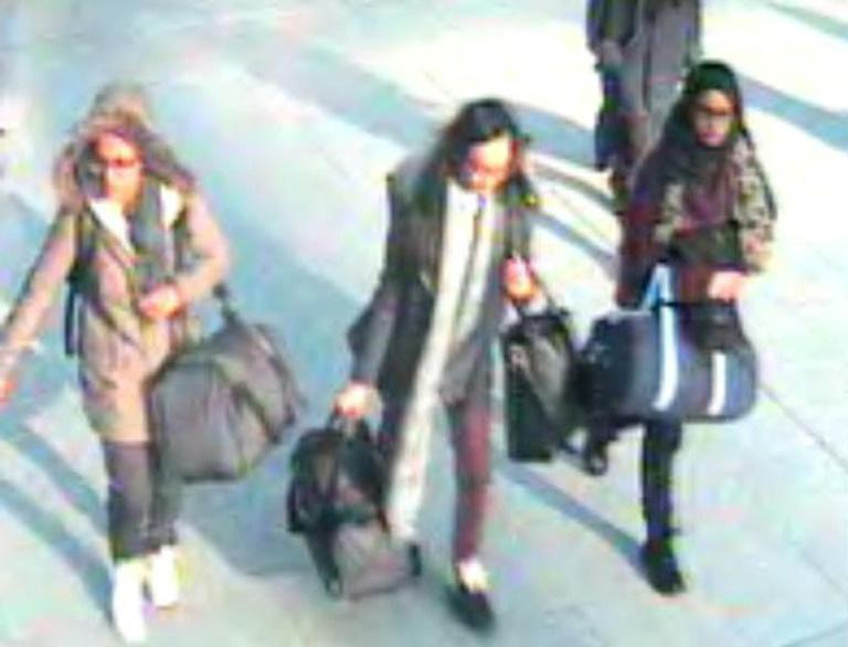 Begum was caught on cameras at Gatwick airport as she left Britain with two other schoolgirls