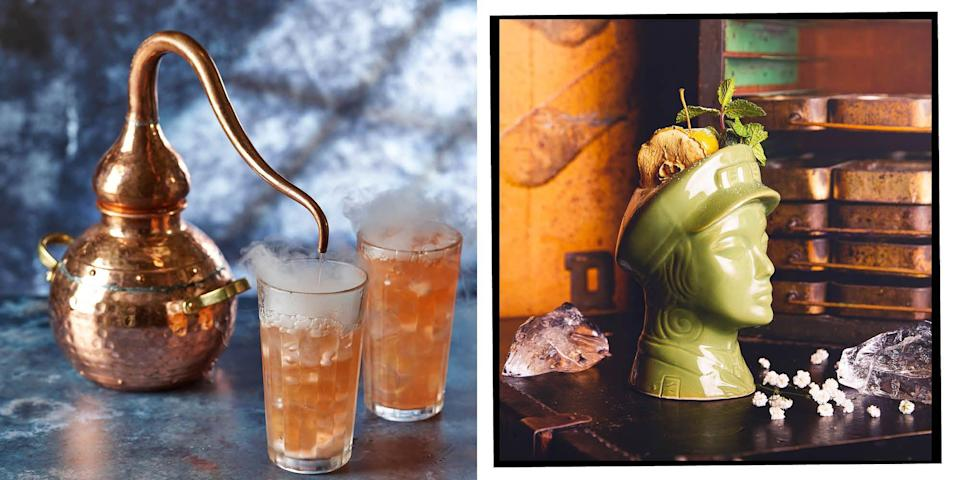 """<p>Mojitos, negroni, porn star martini? Whatever your cocktail of choice, allow us to guide you to the best spots in London to drink as many of your chosen beverages as you want (within reason, we're obliged to say) from the list below.</p><p>From the classic cocktail bars à la <a href=""""https://www.elle.com/uk/life-and-culture/culture/news/a42458/sex-and-the-city-stars-cynthia-nixon-governor/"""" rel=""""nofollow noopener"""" target=""""_blank"""" data-ylk=""""slk:Sex and the City"""" class=""""link rapid-noclick-resp"""">Sex and the City</a> to themed bars with cocktails that resemble magic potions more than margaritas, here are the best cocktail bars in London:</p>"""