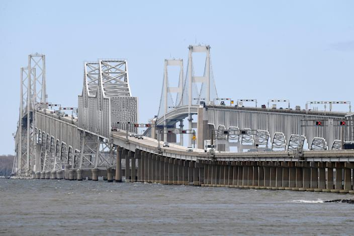 A westbound lane of the Chesapeake Bay Bridge in Stevensville, Md., reopened to vehicles after repairs. The $27 million project was completed well ahead of schedule, partly because of light traffic amid the coronavirus pandemic.