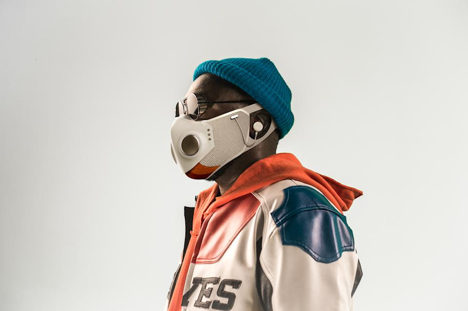 will.i.am debuts innovative face technology concept, XUPERMASK, in partnership with Honeywell. (Honeywell)