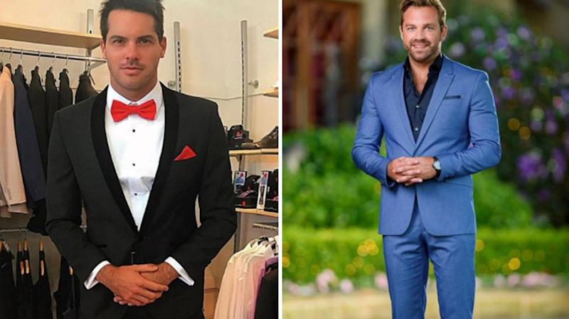 Davina is also reportedly mates with James Trethewie from Sophie Monk's Bachelorette season and Jake Ellis from Georgia Love's season. Source: Instagram / @jakeellis86 (L) / Ten (R)