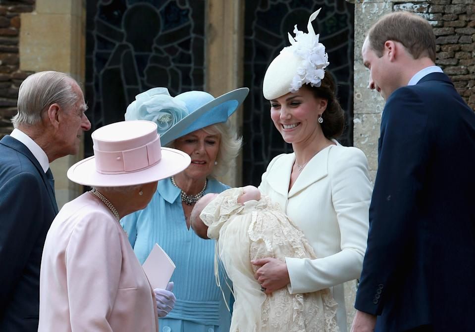 The royal family at Princess Charlotte's christening in 2015. [Photo: Getty]
