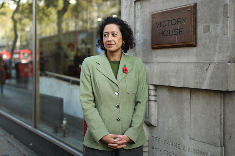 Journalist, writer and broadcaster Samira Ahmed arrives at the Central London Employment Tribunal, Victory House, London, where she taking the BBC to an employment tribunal over an unequal pay claim.