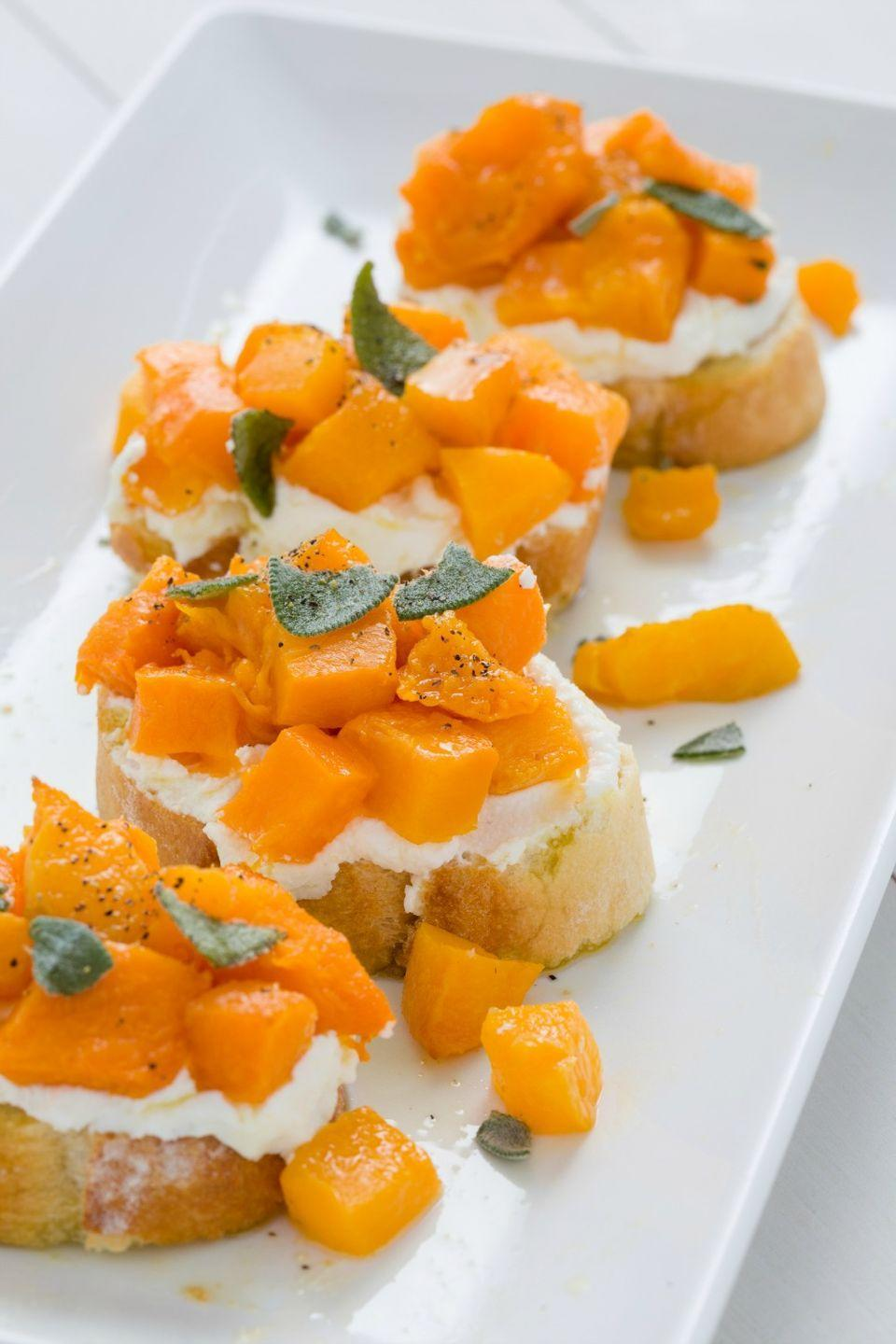 <p>This one takes a bit more time to prep to roast the butternut squash, but it's totally worth it: Paired with ricotta, roasted squash, and fresh sage, these are a total winner.</p>