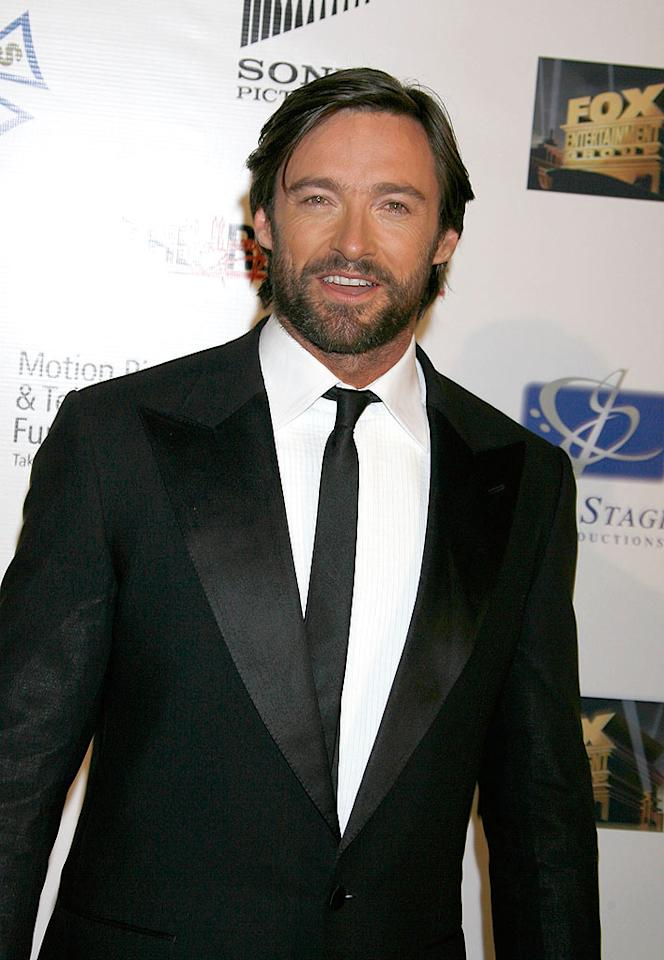"Hugh Jackman is rugged yet ravishing with some fuzz on his face. Jeffrey Mayer/<a href=""http://www.wireimage.com"" target=""new"">WireImage.com</a> - October 20, 2007"