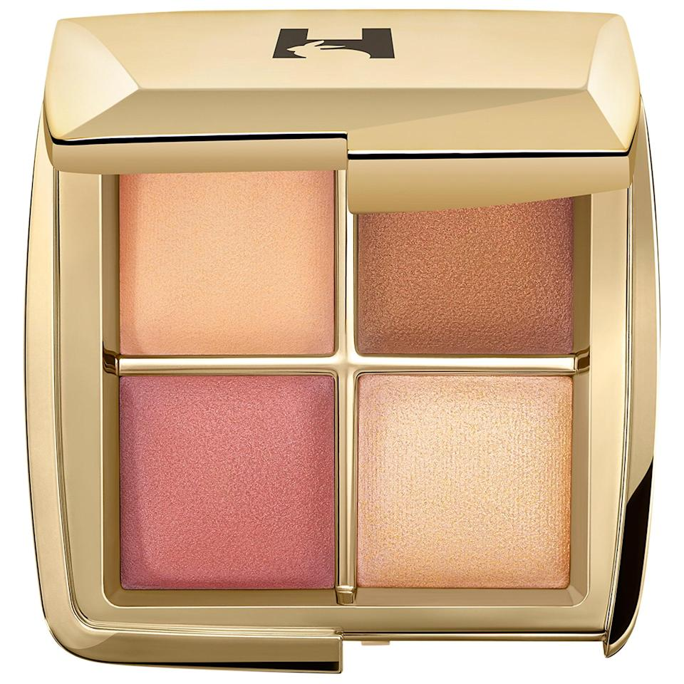 "<h3>Hourglass Mini Ambient Lighting Edit</h3><br>This gorgeous quad of cheek shades is all you need to set, highlight, contour, and create a natural-looking flush that feels radiant, not makeup-y.<br><br><strong>Hourglass</strong> Mini Ambient Lighting Edit - Sculpture Unlocked, $, available at <a href=""https://go.skimresources.com/?id=30283X879131&url=https%3A%2F%2Ffave.co%2F35P9BSb"" rel=""nofollow noopener"" target=""_blank"" data-ylk=""slk:Sephora"" class=""link rapid-noclick-resp"">Sephora</a>"