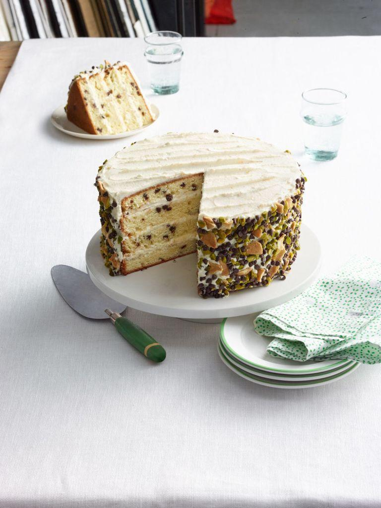 """<p>When a friend challenged cooking duo the Casserole Queens to create a unique cannoli recipe, this layer cake featuring orange, ricotta, and chocolate was born.</p><p><a href=""""https://www.womansday.com/food-recipes/food-drinks/recipes/a13304/cannoli-cake-recipe-wdy0315/"""" rel=""""nofollow noopener"""" target=""""_blank"""" data-ylk=""""slk:Get the Cannoli Cake recipe."""" class=""""link rapid-noclick-resp""""><strong><em>Get the Cannoli Cake recipe.</em></strong></a></p>"""