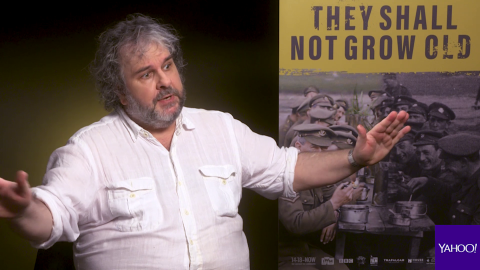 """Peter Jackson says a lot of the veterans saw the Great War as """"an adventure""""."""