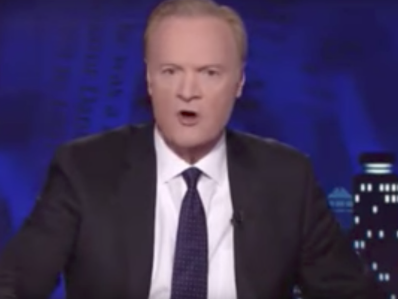 Lawrence O'Donnell didn't hold back when he lost his temper t work. Source: MSNBC