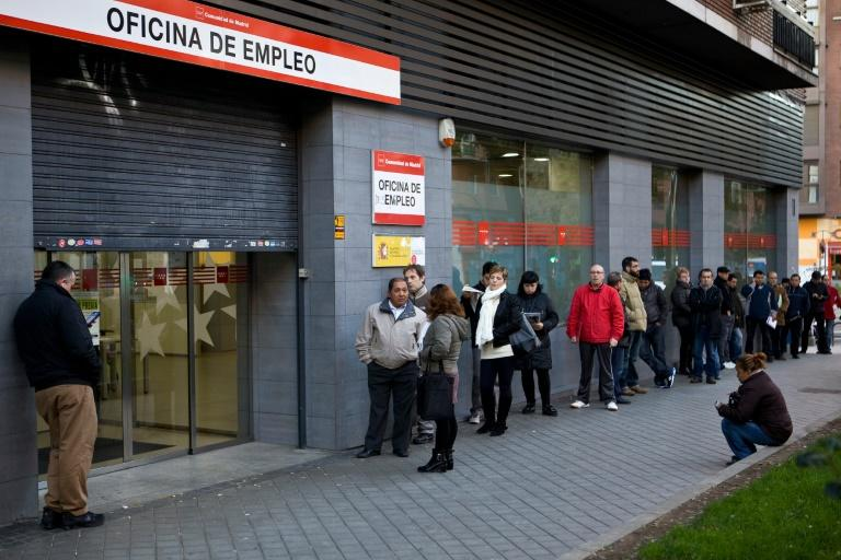 Spain's jobless rate fell to 18 percent, according to the Eurostat statistics agency