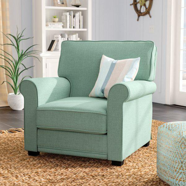 """<p><strong>Beachcrest Home</strong></p><p>wayfair.com</p><p><a href=""""https://go.redirectingat.com?id=74968X1596630&url=https%3A%2F%2Fwww.wayfair.com%2Ffurniture%2Fpdp%2Fbeachcrest-home-torsten-armchair-bchh4158.html&sref=https%3A%2F%2Fwww.countryliving.com%2Fhome-design%2Fg31785674%2Ftop-cozy-chairs%2F"""" rel=""""nofollow noopener"""" target=""""_blank"""" data-ylk=""""slk:CHECK PRICE"""" class=""""link rapid-noclick-resp"""">CHECK PRICE</a></p><p>This blue beauty will fit right in at a beach cottage or lake house.</p>"""