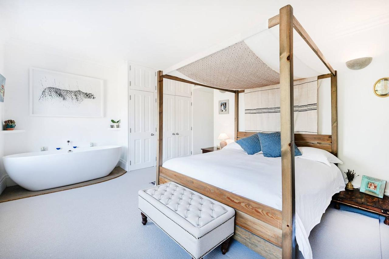 "<p>If you're looking for a true neighborhood vibe—and easy access to the rest of the city—this Westbourne Green Airbnb is ideal. Walking distance from Notting Hill and Portobello Market and near a number of tube stations, the home itself has two bedrooms (one of which has a freestanding tub, <em>score</em>), enormous kitchen-living-room-dining-room, workspace for checking emails, and roof terrace for sunset views over the city. Bonus, it's an <a href=""https://www.cntraveler.com/story/airbnb-plus-is-for-people-who-hate-airbnb?mbid=synd_yahoo_rss"">Airbnb Plus</a>, so the home has been vetted by an Airbnb rep and has all the basics: an ironing board, closet and drawer space for guests, a well-lit entry, easy check-in, comfortable mattresses, a coffee maker, a bathroom free of the host's personal items, and toiletries like shampoo, making it ideal for a first timer used to hotel amenities.</p> <p><strong>Book Now:</strong> $324 per night, <a href=""https://airbnb.pvxt.net/ADqN7"" rel=""nofollow"" target=""_blank"">airbnb.com</a></p>"