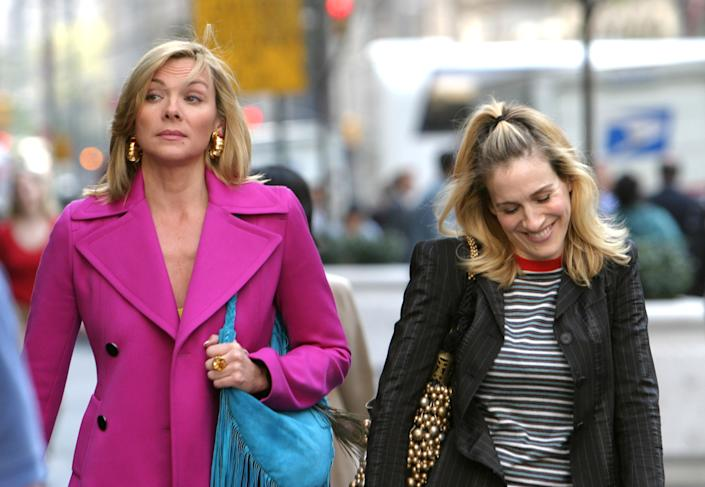 """Kim Cattrall (L) and Sarah Jessica Parker (R)  played Samantha Jones and Carrie Bradshaw, respectively, on """"Sex And The City."""" (Photo: James Devaney/WireImage)"""