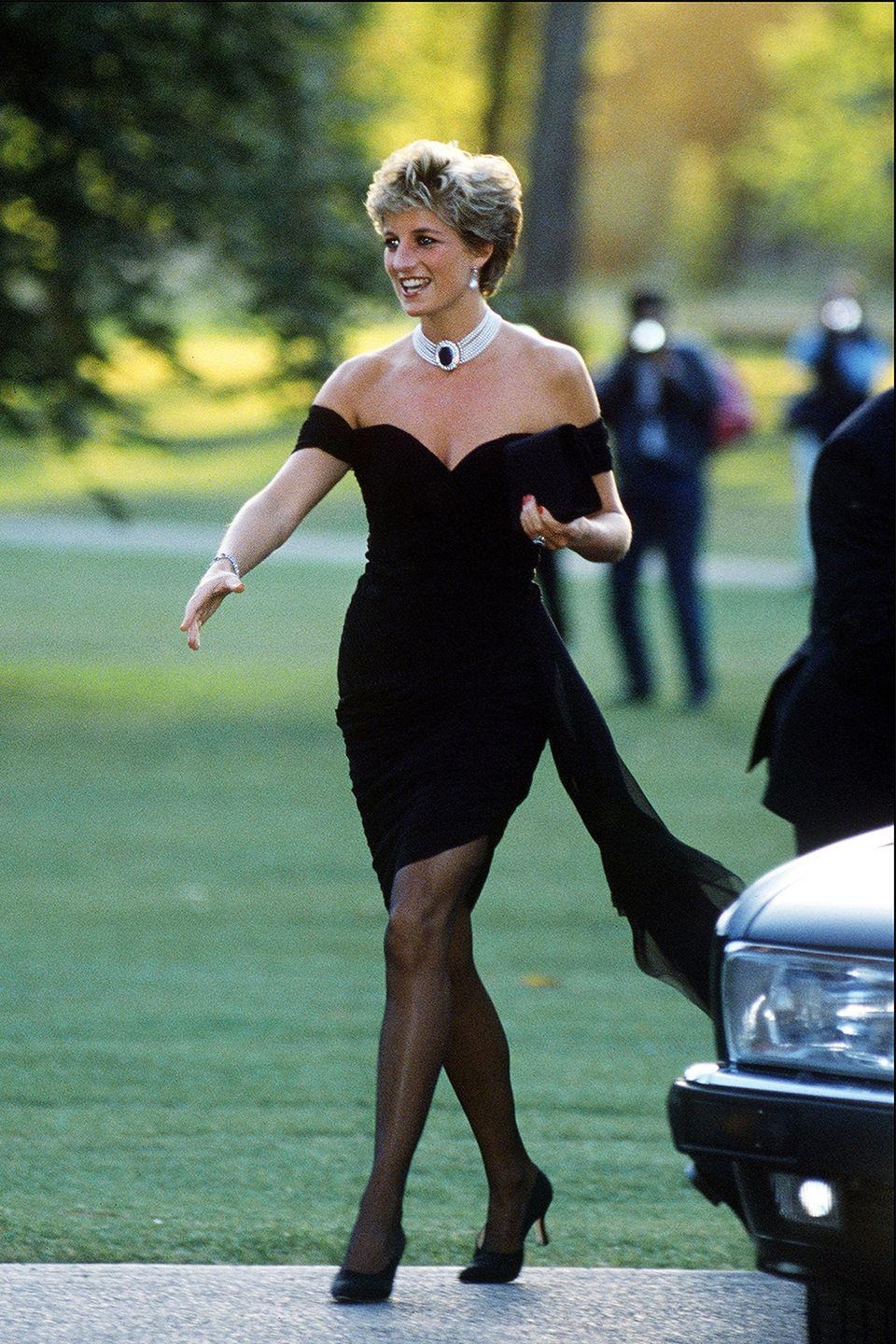 <p>On the evening that Prince Charles' controversial documentary aired in 1994 (the one in which he admitted to having an affair), Diana showed up to the Seperntine Gallery in a look unlike anything a royal had ever worn. The look has since been appropriately dubbed <em>the revenge dress</em>. <br></p>