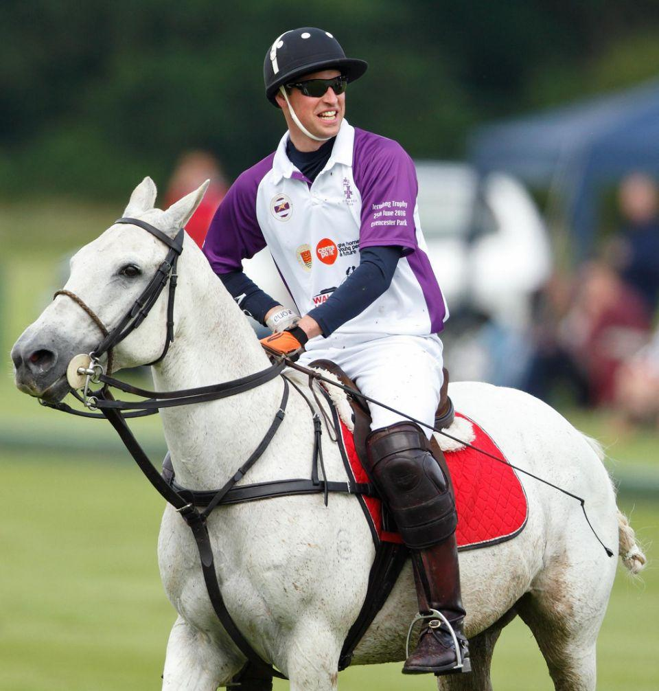 The couple's two young children are following in their polo-loving dad's footsteps though. Photo: Getty