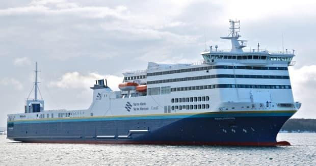 A Marine Atlantic ferry. Employees with the ferry service stopped a man suspected of impaired driving from boarding late Wednesday. (Marine Atlantic - image credit)