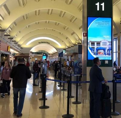 Orange County commercial property management company, The REMM Group, utilizes large digital display panels recently installed throughout John Wayne Airport to reach the CRE investors in the area. The airport has over ten million travelers a year. The network of 40 digital displays has been in development for a year.