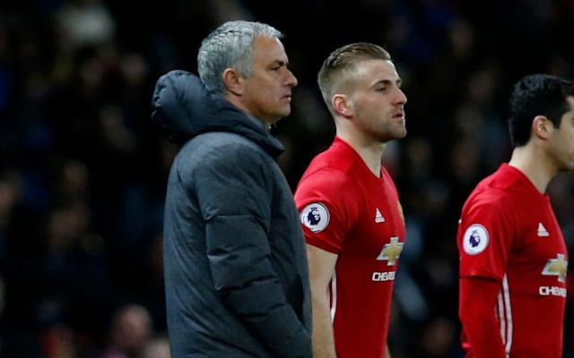 <span>Jose Mourinho has employed some tough love with Shaw</span> <span>Credit: reuters </span>