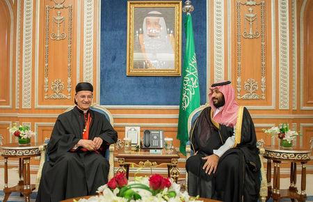 Saudi Crown Prince Mohammed bin Salman meets with Lebanese Maronite Patriarch Bechara Boutros Al-Rahi in Riyadh