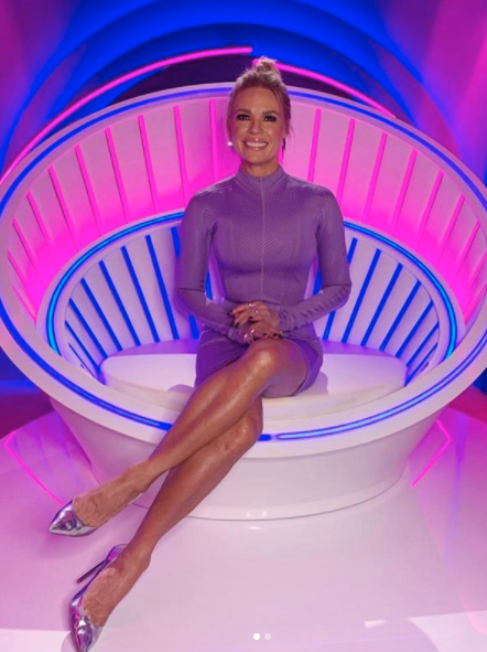 Sonia Kruger in the Big Brother diary room chair