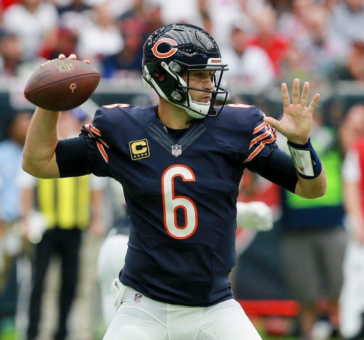 Jay Cutler will throw footballs no more. (Getty)
