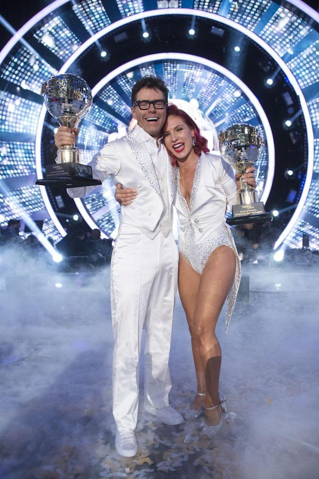 <p>Bobby Bones and partner Sharna Burgess won the most recent season of <em>DWTS</em>. The radio show host beat out actors Milo Manheim and Evanna Lynch in the controversial finale.</p>